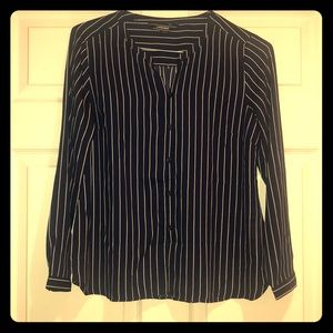Lands' end pin stripped blouse